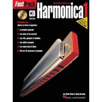 FAST TRACK HARMONICA Vol.1 - Ed. HAL LEONARD - Méthode d'harmonica
